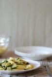 Fresh summer pasta salad Stock Photos