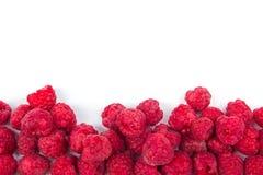 Various fresh summer berries on a white background. Top view. Berries. Fresh summer raspberries. Top view. white background Stock Photos
