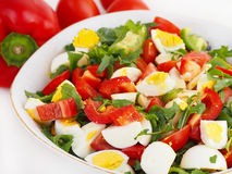 Fresh summer salad in bowl Royalty Free Stock Image