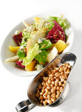 Fresh summer salad with pine nuts Stock Image