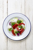 Fresh summer salad on a plate Royalty Free Stock Image