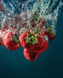 Fresh summer strawberries. royalty free stock photos