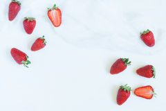 Fresh summer strawberries vegetarian clean eating Stock Images