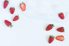 Fresh summer strawberries vegetarian clean eating Stock Images