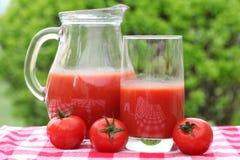 Fresh summer tomato drink Stock Image