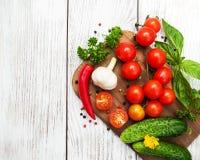 Fresh summer vegetables Stock Photos