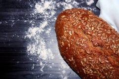 Fresh sunflower bread stock image