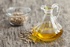 Fresh sunflower seed oil Stock Images