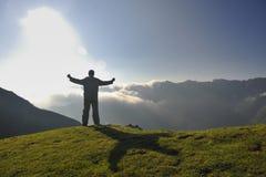 Fresh sunrise at mountain Stock Image