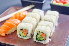 Fresh sushi Royalty Free Stock Photos