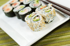 Fresh Sushi California Roll Royalty Free Stock Image