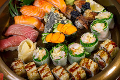 Fresh sushi choice combination assortment selection Royalty Free Stock Photo