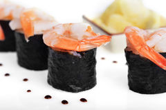 Fresh sushi rolls Royalty Free Stock Photo