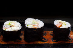 Fresh sushi rolls. Stock Photo