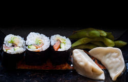 Fresh sushi rolls. Royalty Free Stock Photography