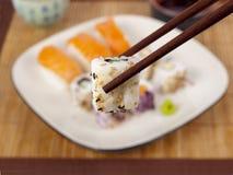Fresh sushi and sashimi Stock Photos