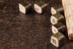 Fresh sushi served Royalty Free Stock Photos