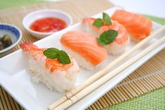 Fresh sushi Stock Photos