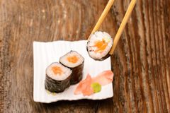 Fresh sushi traditional japanese food Royalty Free Stock Photography