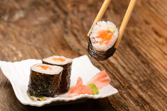 Fresh sushi traditional japanese food Stock Image