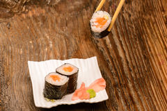 Fresh sushi traditional japanese food Stock Images