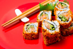 Fresh sushi traditional japanese food Royalty Free Stock Image