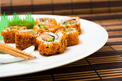 Fresh sushi traditional japanese food Stock Photo
