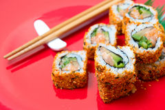 Fresh sushi traditional japanese food Royalty Free Stock Photo