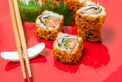 Fresh sushi traditional japanese food Royalty Free Stock Images