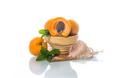 Fresh sweet apricots Royalty Free Stock Photography