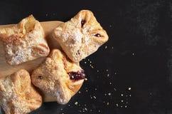 Fresh sweet buns Royalty Free Stock Image