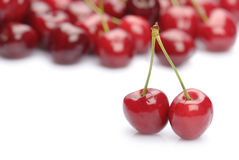 Fresh sweet cherries Stock Photos