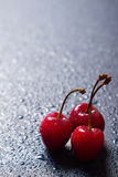 Fresh sweet cherries Royalty Free Stock Images