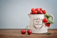 Fresh sweet cherries Stock Photos