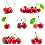 Fresh sweet cherries isolated Stock Photos