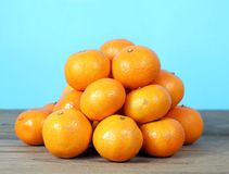 Fresh and sweet clementine Stock Photo