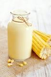 Fresh sweet corn juice Stock Photography