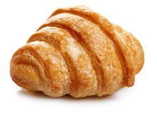 Fresh. Sweet croissant on white background Stock Image