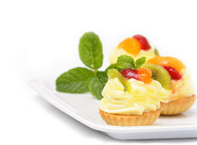 Fresh and sweet dessert cakes Royalty Free Stock Photos