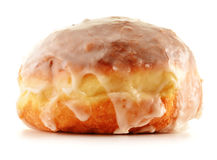 Fresh sweet doughnut  on white Stock Photo