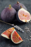 Fresh sweet fruit figs Stock Photos