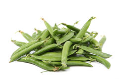 Fresh sweet green pea pods. Stock Photo
