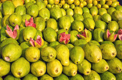 Fresh sweet guava fruits group in asia street market Stock Photo