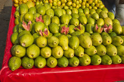 Fresh sweet guava fruits group in street market , India Stock Photos