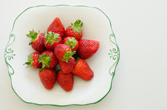 Fresh sweet and juicy strawberries Stock Images