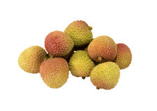 Fresh sweet lychee nuts Royalty Free Stock Images