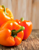 Fresh sweet orange pepper Royalty Free Stock Photos