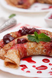 Fresh sweet pancakes Royalty Free Stock Photography