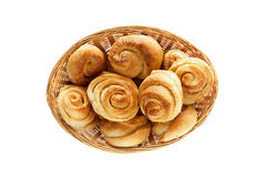 Fresh sweet pastries on white background, isolated.  Royalty Free Stock Image