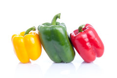 Fresh sweet pepper,bell pepper or capsicum on white background Stock Images